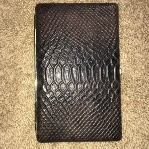 ABAS Wallet/Clutch imitation croc skin